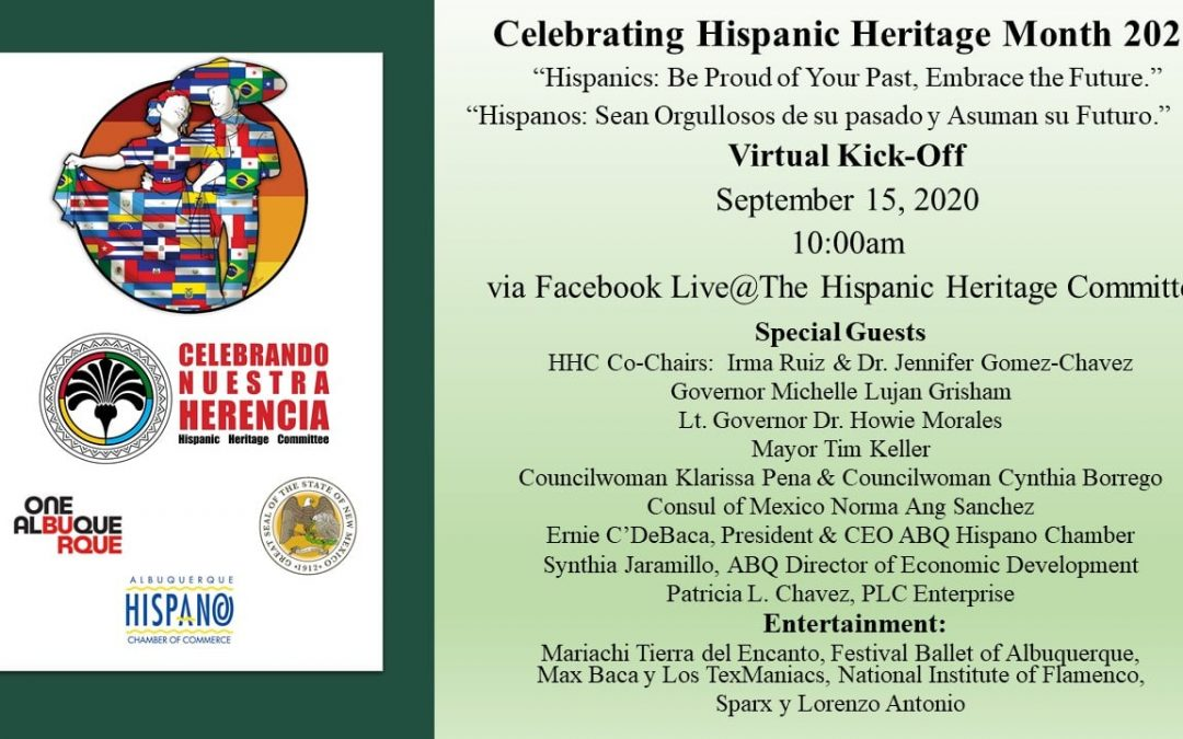 Lt. Governor Howie Morales Helps Launch Hispanic Heritage Month 2020 in New Mexico During Virtual Celebration